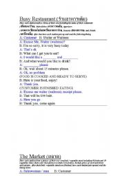 English Worksheet: Situations in Thailand.