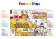 English Worksheet: Food and shops