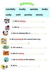 English worksheets: the Adverbs worksheets, page 45