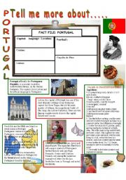 English Worksheet: Tell me more about.....PORTUGAL