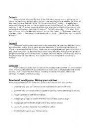 Emotional Intelligence Esl Worksheet By Meej