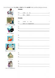 English Worksheets: Questions with WHAT and WHO