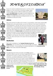 English Worksheet: The Tower of London