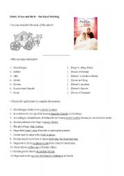 English Worksheet: Movie: Prince and Me 2 - The Royal Wedding