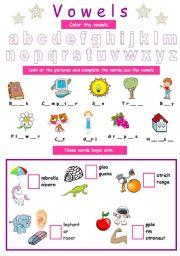 Vowels (for kids)