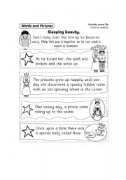 sleeping beauty - worksheet by cosa nostra