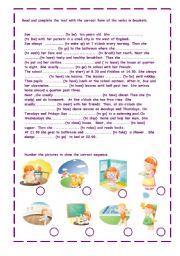 English Worksheets: sue�s day
