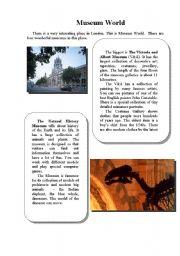 English Worksheet: Museum World