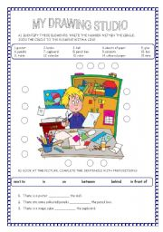 English Worksheets: THERE IS /THERE ARE - PREPOSITIONS