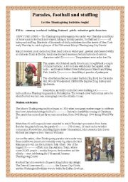 English Worksheet: Macy�s Thanksgiving Parade