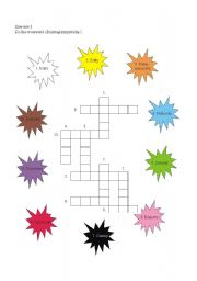 crossword colours