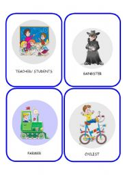 English Worksheet: JOBS FLASHCARDS 2