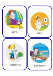 English Worksheet: JOBS FLASHCARDS 3