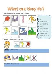English Worksheets: expressing abilities