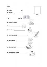 English Worksheets: Presentation worksheet