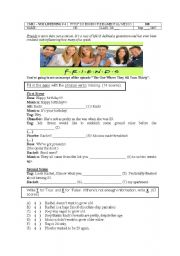 English Worksheet: FRIENDS -