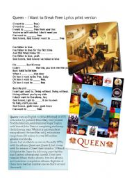 English Worksheet: Queen- I want to break free