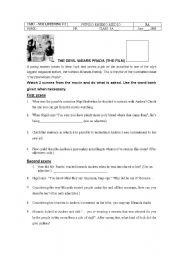 English Worksheet: The Devil Wears Prada - the movie (Listening Activity)