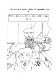 English Worksheets: Hidden picture