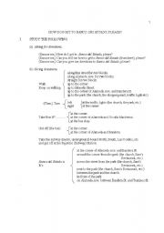 English Worksheets: HOW DO I GET TO ...., PLEASE?