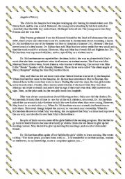 English Worksheets: ANGELS OF MERCY