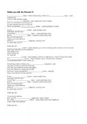 English Worksheets: Wake up call, by Maroon 5
