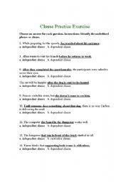 independent and dependent clause esl worksheet by bridish. Black Bedroom Furniture Sets. Home Design Ideas