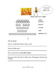 English Worksheet: Bee Movie