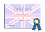 English Worksheets: Good English Student Certificate