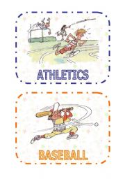 Sports flashcards (1 of 3)