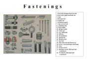English Worksheets: Fastenings