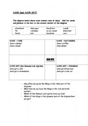 English Worksheets: HAVE