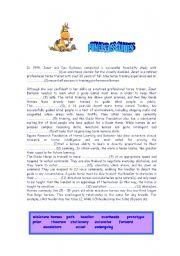 English Worksheets: PONEYS AS GUIDES