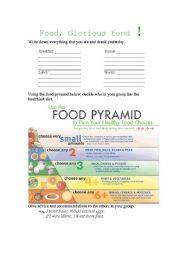 English Worksheets: Food, Glorious Food (Adults)