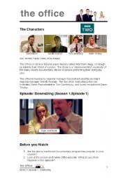 English Worksheet: The Office UK Series 1, Episode 1 Downsizing