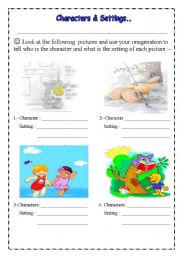 Printables Character And Setting Worksheets english teaching worksheets other chracters and setting