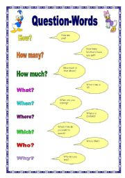 Question Words (17.09.08) - ESL worksheet by manuelanunes3