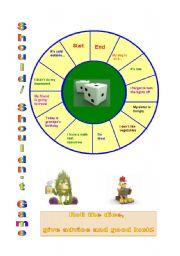 English Worksheet: Should & Shouldn´t Game