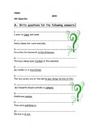 English Worksheets: how to write a question.