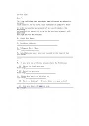 English Worksheets: questions to the witnesses