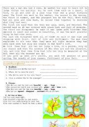 English Worksheets: life lesson