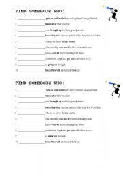 English Worksheet: Phrasal Verbs - Find someone who