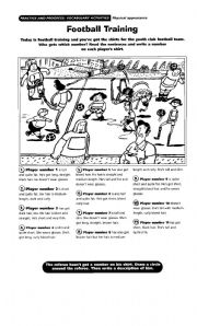 English Worksheet: Football Training