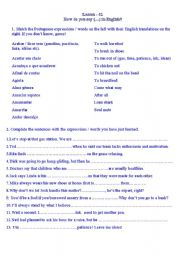 English Worksheets: day by day expressions