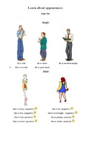 English Worksheets: appearances