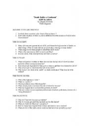English Worksheets: Death Stalks a Continent: A IDS in Africa