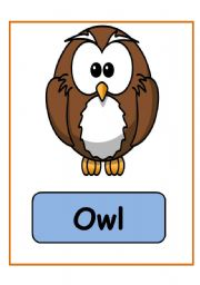 English Worksheets: ANIMALS FLASHCARDS PART 3 (17.09.08)