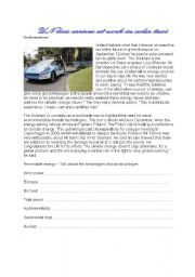 English Worksheets: Solar Powered Taxi