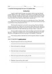 English Worksheets: Form One Level Exercises