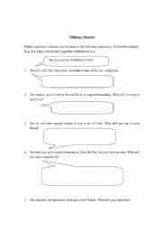 English worksheet: Making a Request
